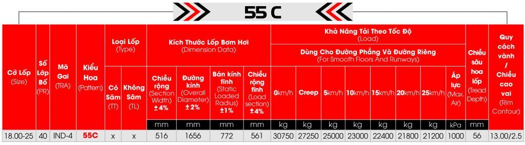 lop cho cang 55C