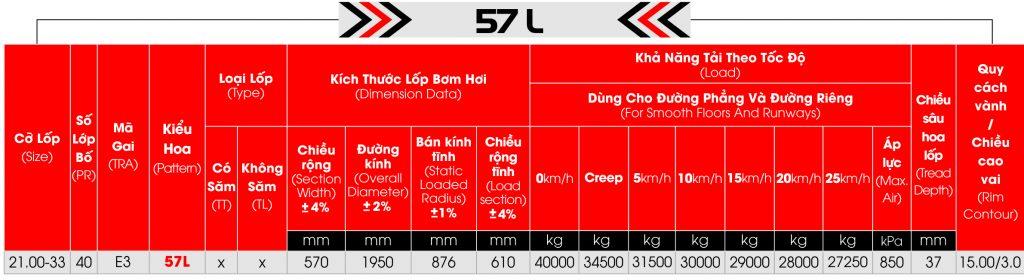 lop cho cang 57L