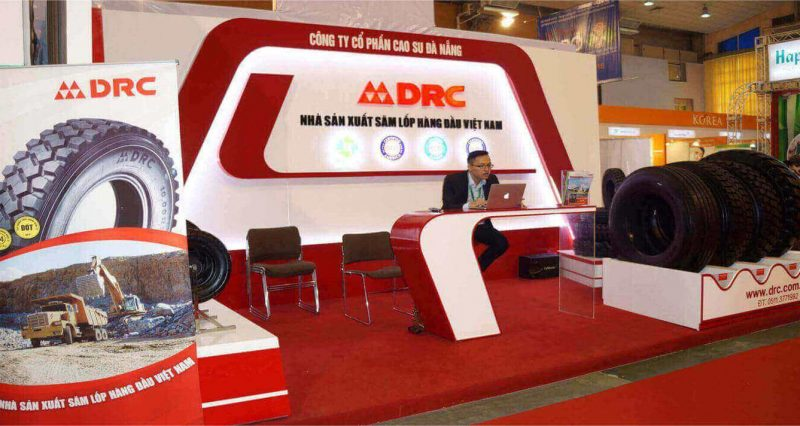 drc tire at vietnam trading show